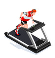 Treadmill Gym Class Working Out Isometric 3D Image vector image vector image