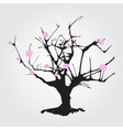 Tree in Chinese style vector image