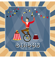 Vintage card with a juggler vector image vector image