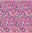 vintage doodle and flower floral motif pattern vector image vector image