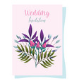 wedding ornament flowers sprout decorative vector image vector image