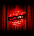 you will win a shining retro banner vector image