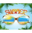 sunglasses with reflection of the summer vector image