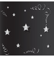tinsel and stars set for cards and gift paper vector image