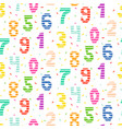 kid number bright seamless pattern vector image