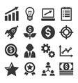 startup business icons set vector image