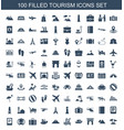 100 tourism icons vector image vector image