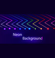 abstract neon background with luminous lines of vector image