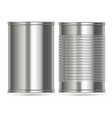 aluminum cans in two different designs vector image vector image