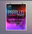 amazing modern music party flyer brochure template vector image vector image