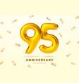 anniversary golden balloons number 95 vector image vector image