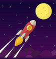 bitcoin icon rocket vector image vector image