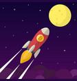bitcoin icon rocket vector image