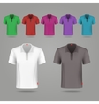 Black white and color male t-shirts design vector image vector image