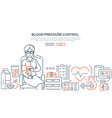 blood pressure control - modern line design style vector image vector image