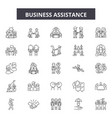 business assistance line icons signs set vector image vector image