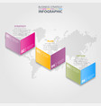 business infographics strategy design elements vector image vector image