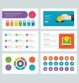 business presentation templates flat design vector image vector image