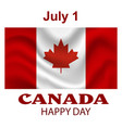 canada flag background happy canada day poster vector image vector image