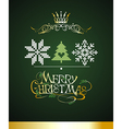 Christmas card with knitted elements vector image