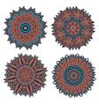 Circular floral patterns and ornaments vector image vector image