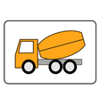 Concrete Mixer Truck icon vector image