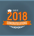 congratulations on graduation 2018 class vector image