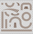 creative of curved railroad vector image vector image