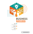 cubic business success concept design layout vector image vector image