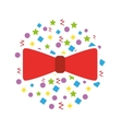 Cute bow party icon
