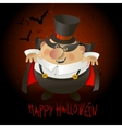 Cute Count Dracula Halloween design background vector image vector image