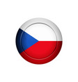 czech flag on the round button vector image