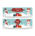 Discount banner with snowmen copy