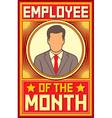 employee month design vector image vector image