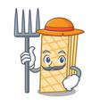 farmer waffle character cartoon style vector image vector image
