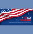 fourth of july felicitation greeting card vector image vector image