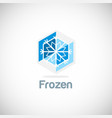 Frozen ice flower logo