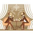 Gentlemen in tobacco smoke in club vector image