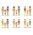 happy male gay couple with foster son vector image vector image