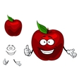 Happy red cartoon apple fruit vector image vector image