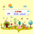 hello autumn and back to school autumn banner vector image vector image