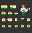 india flag icons set symbols flag of vector image vector image