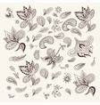 Indian Henna Design Elements vector image vector image