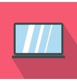 Laptop icon in cartoon style icon flat style vector image vector image