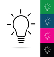 lightbulb icon set vector image