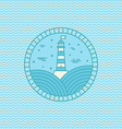 lighthouse logo design template in trendy linear vector image vector image