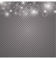 lights on transparent background magic concept vector image vector image
