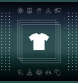 men s t-shirt icon the silhouette menu item in vector image