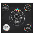 Mothers Day Design Elements for Greeting Cards vector image