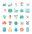 Nature and Ecology Colored Icons 4 vector image vector image